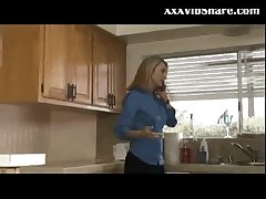 Sizzling wife fucked in the kitchen