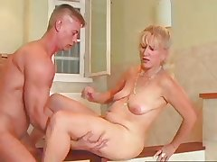 SEXY MOM 71 blonde grown-up and a lad
