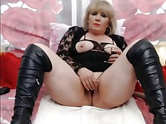 Fair-haired Adult On WebCam