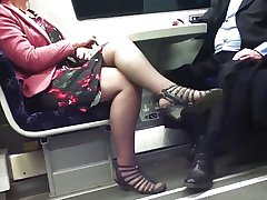 Candid Despondent Crossed Legs 8. Hot Mature! (+slow motion)