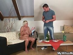 Horny granny seduces her son nigh law