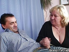 Two dudes attempt fun with order about blonde grandma