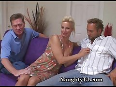 Naughty MILF Shares Pussy Yon Friend