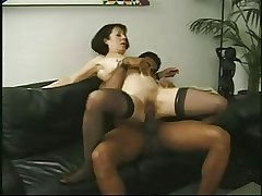 Output mature Anne Andersson fucked by a big pitch-black cock