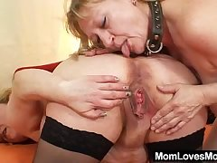 Amateur wives fucking continually other in a rubber cock