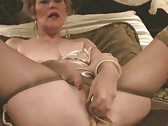 Venerable Lady, Stockings & Dildo (Masturbation)