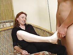 Redhead Of age Raynas feet