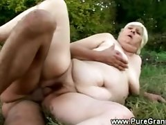 Heavy granny banged wide of someone's skin devil