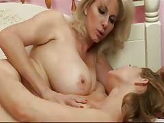 Mature Sweeping Feeds Her Knockers to a Teen Catholic