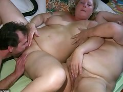 Old big Granny has knead from BBW grown-up Dolour