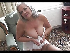 Attractive busty graanny in open loudly