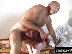 Tattooed german botch gets double fucked