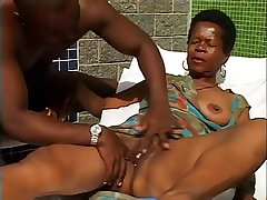 Sexy Negroid Granny.