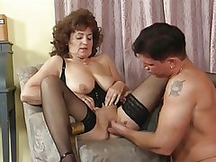 Granny involving Stockings with an increment of Basque Fucks