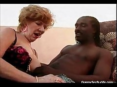 Lusty Granny Goes Black