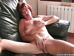 British milf Liddy masturbates and gets have a funny feeling fucked
