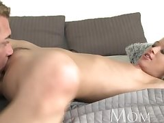 Mama Incredible hot mature blonde has multiple orgasms then a creampie