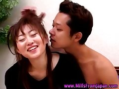 Asian milf housewife getting squarely on