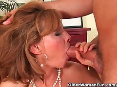 Older lady with hot diet gets drilled overhead the couch