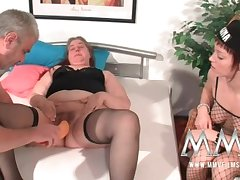 MMV Films German old bag supportive parts a fat adult join in matrimony to orgasm