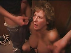 Mature BBW With Two Youngers Boys In Hammer away Lift.