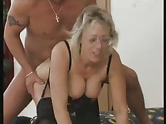 German mature alongside glasses - Thea