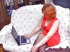 Hot Redhead Mature seduced together with fucked unconnected with Young man