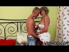 MILF GETS FUCKED Around BEDROOM BY HIM !!