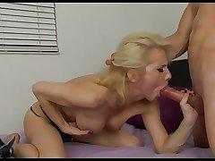 Dispirited Mature gives boy a blowjob!!!!