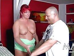 MMV FILMS Redhead German Full-grown Housewife