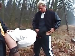 Dogging - mature wife fianc� overwrought 2 Men's near the forest