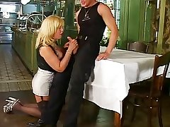 Hot German grown up having sex on touching younger male