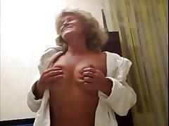 Hot 55 yo Russian mature Galina play nearly skype
