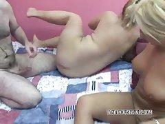 Busty Monique cataloguing a cock with a blonde slut