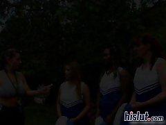 Roxy is a cheerleader