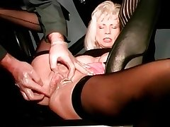 I am Eaten away of age slut gets her cunt fisted