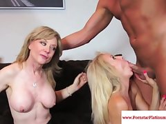 Nina Hartley threeway relating to of age Erica