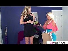 Lez Milfs (Brianna Ray & Nikita Von James) Make Love On Cam vid-27
