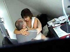 My mom and caitiff public schoolmate frend caught wits hidden cam