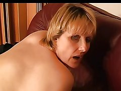 Mature On The Sofa (Masturbation)