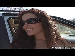 Soccer milf Victoria Valentino gets picked involving exotic the parking lot  HD