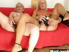 Big-titted gramma penetrates a madame