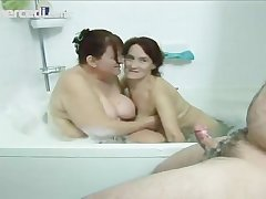 Two Mature Babes Share A Dick