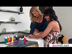 Naughty Together with Spot on target Milf Lesbians On Tape movie-11