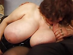 BBW grown up with huge saggy Bristols fucking