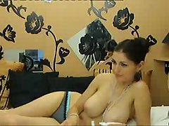 Sexy go steady with shows her huge incompetent breasts on cam