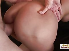 Busty MILF gets fucked overwrought a thick cock