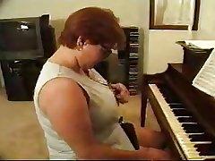 Threesome Mature Piano Teacher (BBW)